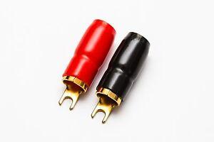 Image Is Loading 0 Gauge Fork Terminals Pair Red Black 0
