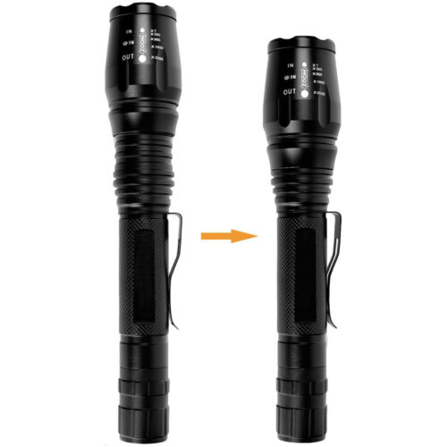 Rechargeable 90000LM T6 LED High Power Torch Flashlight Lamps Light /& Charger#