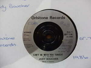 JUDY-BOUCHER-1986-lt-CAN-039-T-BE-WITH-YOU-TONIGHT-lt-45RPM-7-034-SINGLE-VINYL-RECORD-JUKEBOX