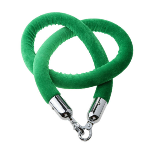 59Inch Velvet Rope Crowd Control Stanchion Post Queue Line Barrier Green
