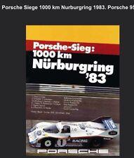 Porsche Siege 1000 km Nurburgring 1983 Porsche 956 C Car Poster Licensed Reprint