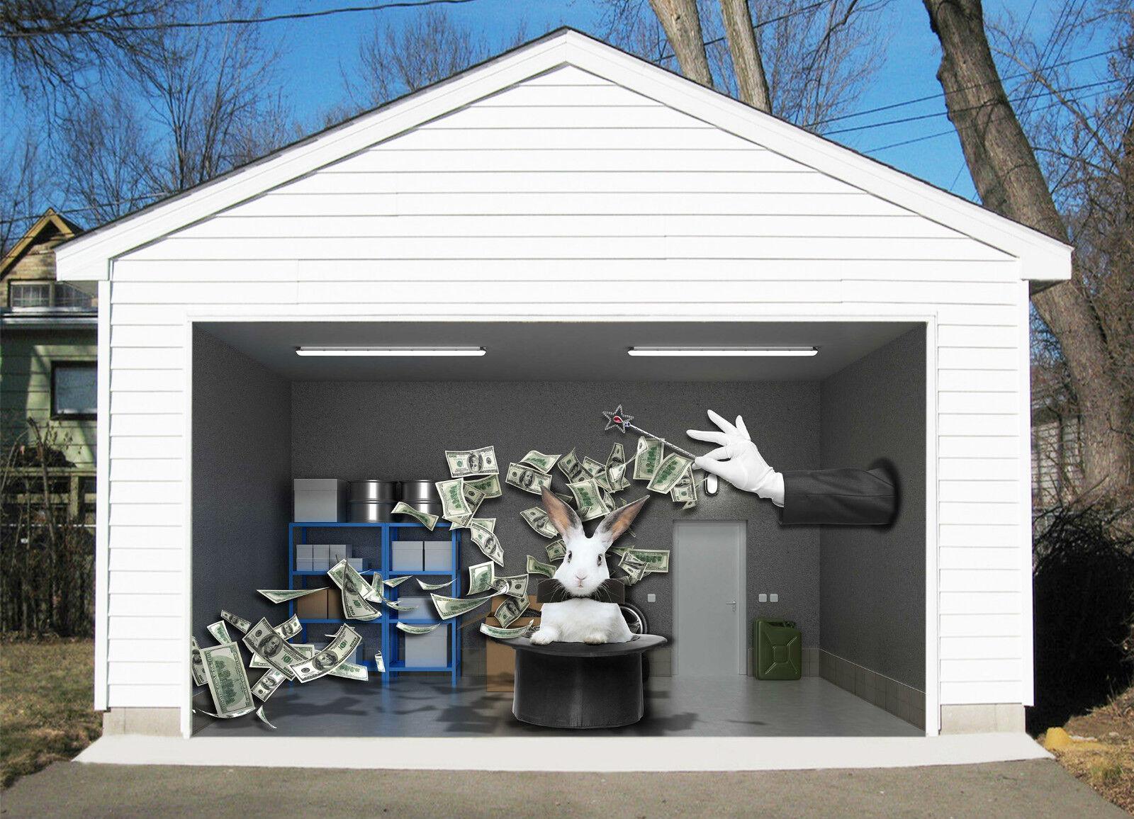 3D Cappello Magico Garage Porta Stampe Parete Decorazione Murale AJ WALLPAPER IT