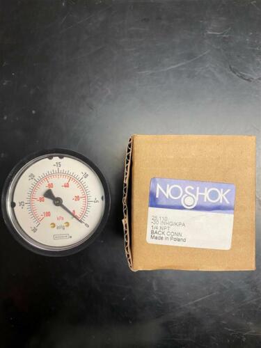 """-30-0 PSI 2-1//2/"""" Vacuum Gauge Noshok 25-110 Dry"""