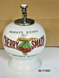 VINTAGE FOWLERS CHERRY SMASH SODA FOUNTAIN SYRUP DISPENSER