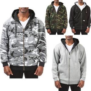 Pro Club Reversible Full Zip Up Heavyweight Thick Jacket Sweatshirts Size S-5XL