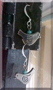 Blue-Bird-Earrings-Fashion-Dangle-Charm-Gift-Girls-Simple-Light-Sterling-Silver