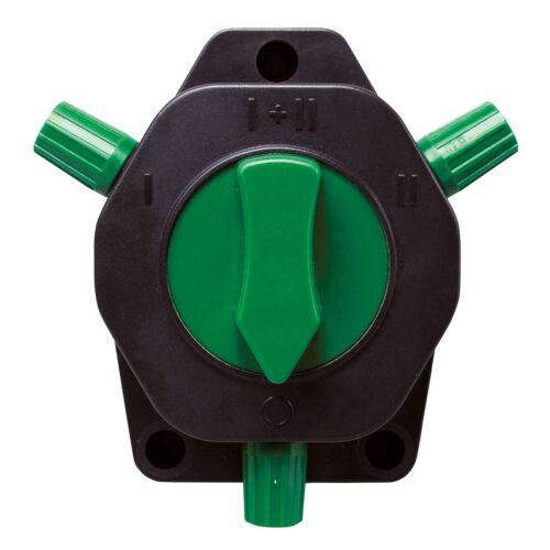 horizont 3-Wege-Zaunschalter für Elektroweidezäune 2 AusgängeDrehschalter