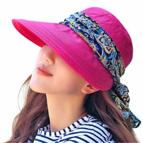 Pretty Rose Red Summer Outdoors Sun Hats UV Protection Foldable Sale