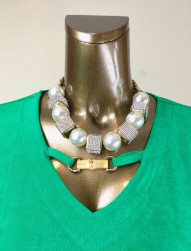 2X CABANA-GREEN BAMBOO-TRIM 3//4-SLV TOP $96 CHICO/'S *NWT SIZE 4.