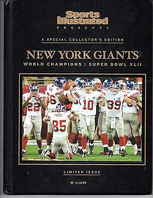 Sports Illustrated New York Giants 2008 Super Bowl XLII Champions Hard Cover