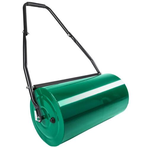Rouleau à gazon jardin en métal 60cm avec poignée 109cm haute résistance pelouse