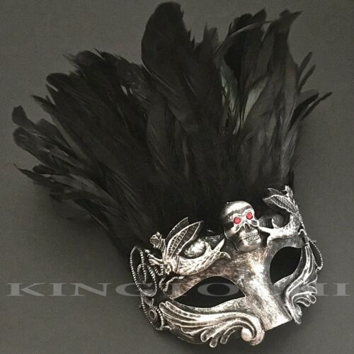 Halloween Costume Evil Snake Eye Accent Cosplay Masquerade Feather Mask