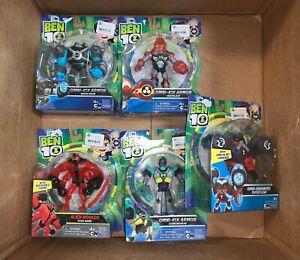 LOT-OF-5-Assorted-Ben-10-Action-Figure-Omni-Kix-Armor-Enhanced-Alien-Worlds-NEW