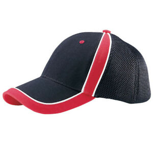 BRUSHED-CANVAS-SPORTS-MESH-CAP-Black-Red