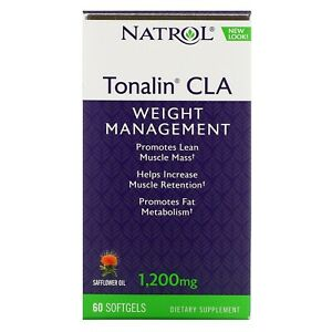 Natrol Tonalin CLA 1 200 mg 60 Softgels Egg-Free, Fish Free, Gluten-Free, cal 13