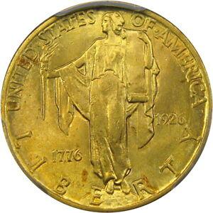 1926-2-5-PCGS-MS64-SESQUI-QUARTER-EAGLE-HIGH-END-amp-ORIGINAL-ROSE-GOLD