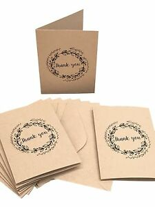 New-Thank-You-Cards-100-Recycled-Card-with-Matching-Envelopes-Pack-10