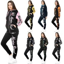 Damen Jogginganzug Frauen Trainingsanzug Sportanzug Streetwear JG-512 John Kayna
