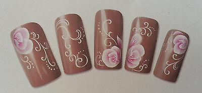 Ravishing Roses Design Nail Art Water Decals Sticker For Natural/False Nails
