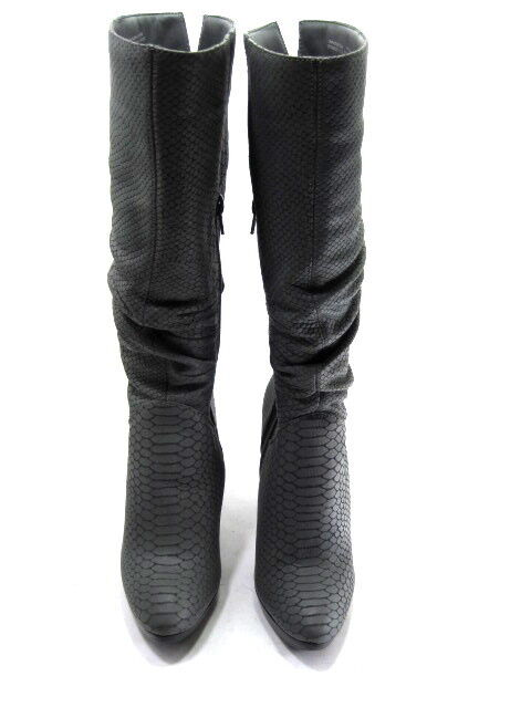 Carlos By Carlos Santana Para Mujer Enamoramiento knee-high botas Cuero Cuero Cuero gris Talla 5.5 898518