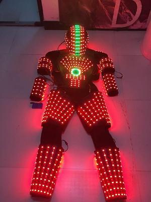 LED ROBOT COSTUME ROBOTS SUIT DJ TRAJE PARTY SHOW GLOW