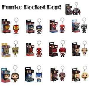 Funko-Pop-Keychain-Baby-Groot-Batman-SpiderMan-DeadPool-Vinyl-Figure-Keyring