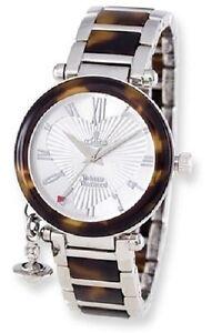 Ladies-Vivienne-Westwood-Orb-Tortoise-Look-Watch-NIB-Retail-447-00