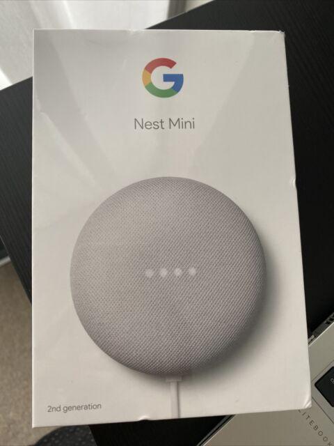 Google Nest Mini (2nd Generation) Smart Speaker - Chalk BNIB