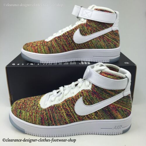 Force Trainers Ultra Mid Rrp £150 Nike 1 Multi Mens Colour Shoes Flyknit New Air 1wtqt5XxY