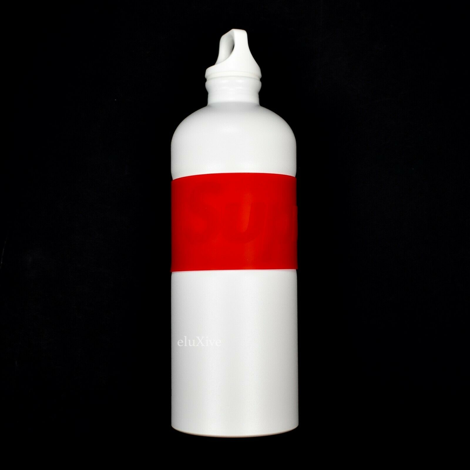NWT Supreme NY Sigg White Red Rubber Box Logo Metal Water Bottle SS19 AUTHENTIC
