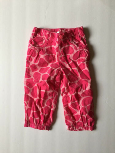 NWT 18M 24M 2T GYMBOREE BABY GIRLS LOVEABLE GIRAFFEE PRINTS PINK CORDUROY PANTS