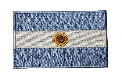 ARGENTINA COUNTRY FLAG SMALL IRON ON PATCH CREST BADGE .. NEW