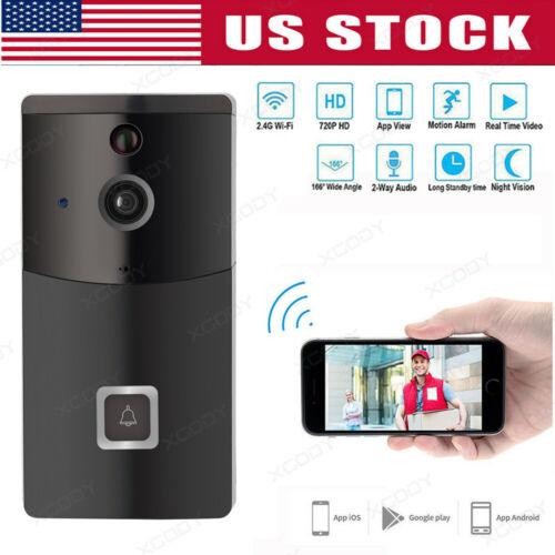 Wireless WiFi Video Doorbell Smart Phone Door Ring Intercom Security Camera PIR