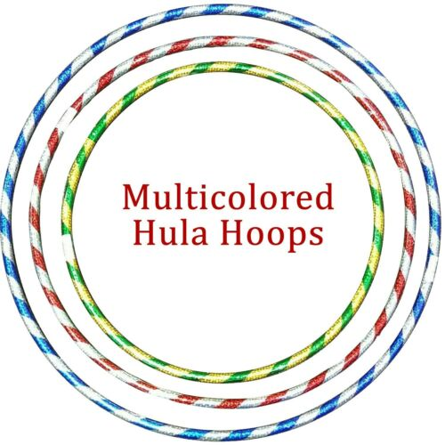 Details about  /Multicolour Hula Hoops Childrens Kids Exercise Glitter Plastic Hoola Hoop 45 CM