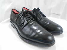 "Men's COACH ""Andrew"" Black Leather Plain Toe Dress Shoes 9.5D 9.5 D"