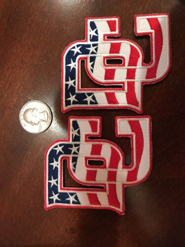 "2 WHITE WASHINGTON DC RED BLUE Embroidered Iron On Patch Lot 3/"" X 3/"" NICE"