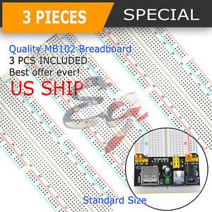 3X-MB-102-830-Point-Prototype-PCB-Solderless-Breadboard-Protoboard-US