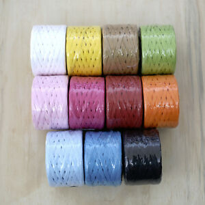 PAPER-RAFFIA-100-metre-roll-choose-colour-white-yellow-red-pink-blue