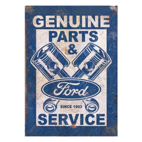 Genuine Ford Parts /& Service Advertising Sign Vintage Garage Shed Workshop