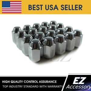 "Lug Nuts Acorn 1//2/"" Chrome Lugs Nut 20 Pc New Ford Jeep"