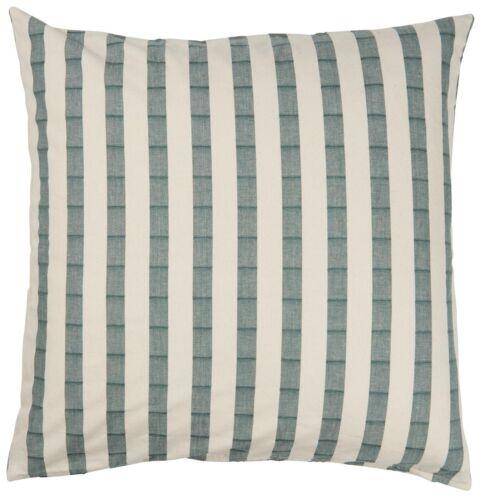 IB Laursen Taie d/'oreiller 60x60 rayures vert//crème blanc Large Coton Coussin
