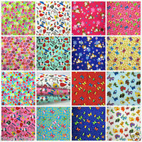 Per HALF metre Childrens themed polycotton fabrics Nurses & drs. butterflies...