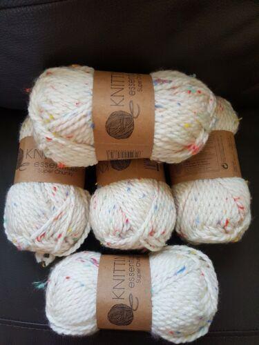 5xKnitting essentials super chunky oatmeal wool 50g X5