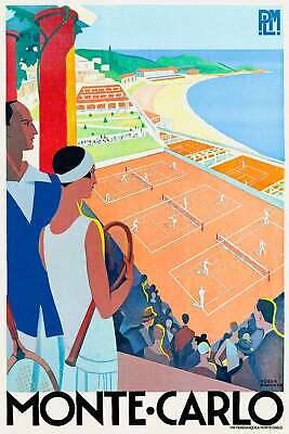 Monaco Monte Carlo 0015 Vintage Travel Poster Art