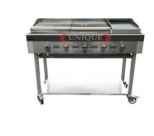 Image Is Loading 5 Burner Gas Charcoal Bbq Grill Char