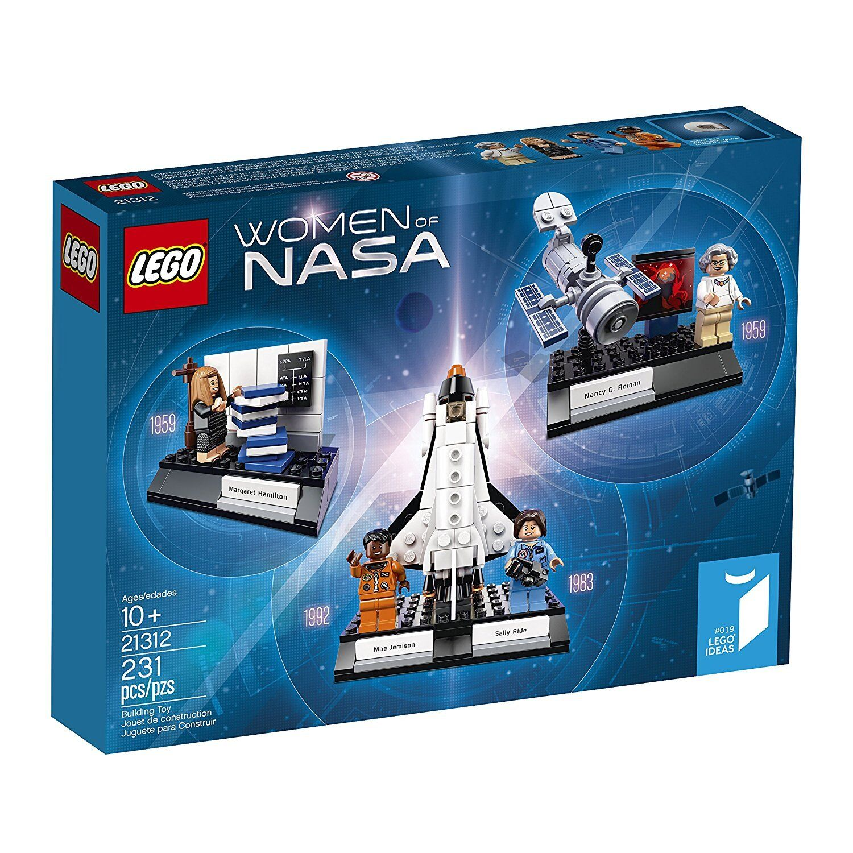 Lego Ideas Women of NASA 21312 with mini-figures space shuttle Hubble telescope