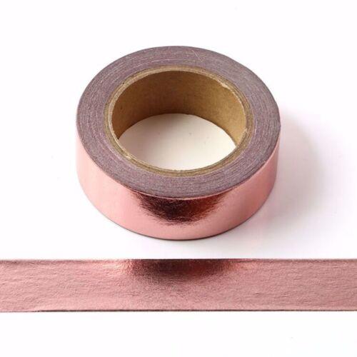 Rose Gold Foil Washi Tape Decorative Self Adhesive Masking Tape 15mm x 10 meters
