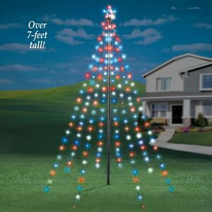 image is loading 7 ft tall string light christmas outdoor garden - Light Christmas Tree