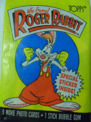 Unopened Pack Who Framed Roger Rabbit Movie Cartoon Cards ~ Bob Hoskins