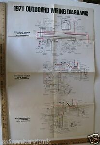 Details about 1971 Johnson Factory Wiring Diagram For The 40 HP Model on